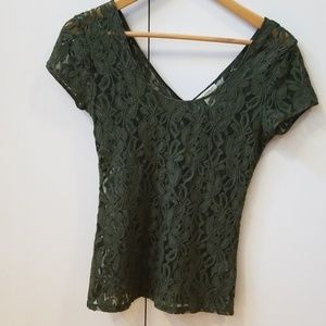 Green lace t shirt